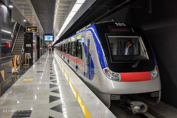 کاهش فاصله حرکت قطارها در خط 3 مترو تهران